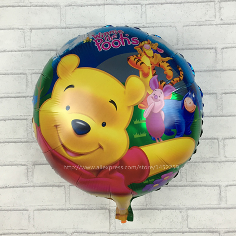 Xxpwj Wholesale Childrens Toys Balloon Birthday Party Winnie Automatic Sealing Foil Balloon Round I-035 Fragrant Flavor In