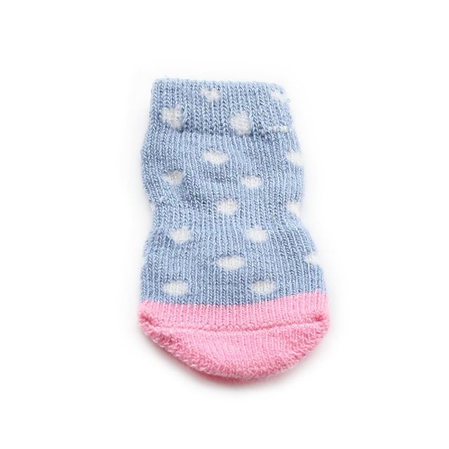 White Dot Pattern Dog Sock
