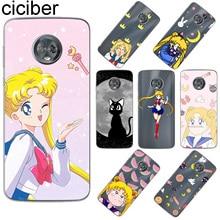 ciciber For Motorola Moto C Z2 Z3 ONE P30 G4 G5 G5S G6 E4 E5 Play Plus Power M X4 Soft TPU Phone Cases Sailor Moon Coque Fundas мыло dove dove do032lwjoh09