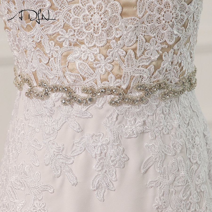 Sleeveless V-neck Beading Appliques Zipper Back With Buttons
