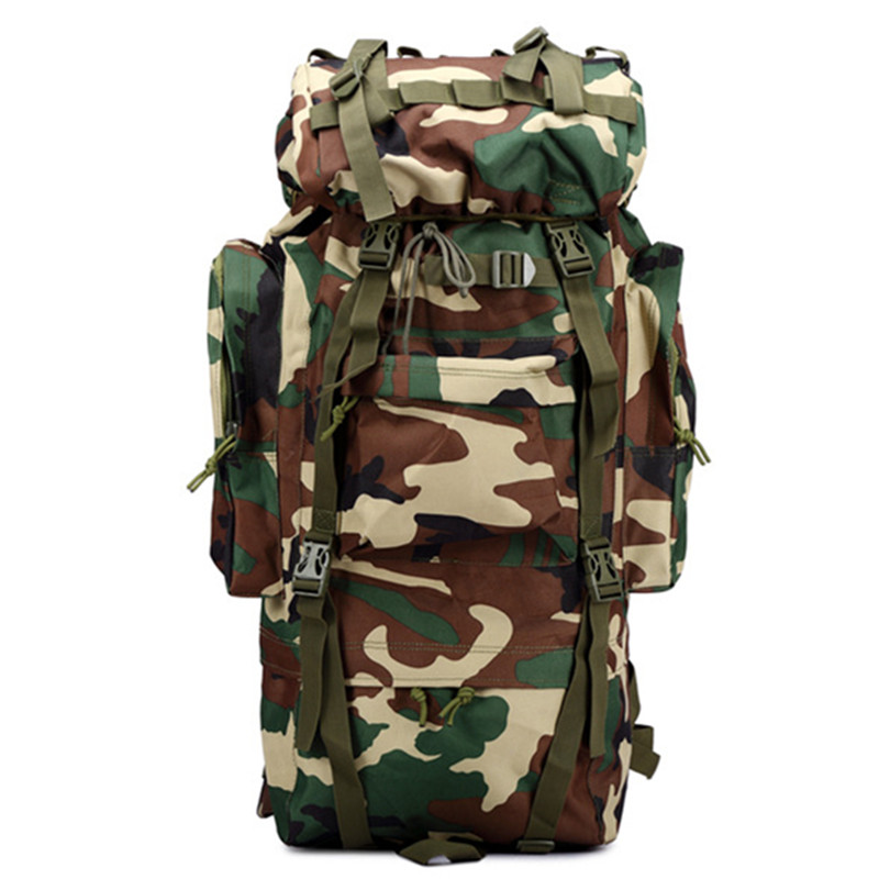 65L Outdoor bag Sports Camping Travel Hiking Climbing Bag army Military camouflage Tactical Backpack sports travel airsoft tactical knapsack camping climbing backpack 600d nylon hiking hunting vintage military bag camouflage