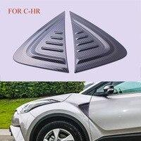 2PCS SET ABS CARBON FIBRE Car Side Wing Fender Air Guide Trim Sticker FIT For Toyota