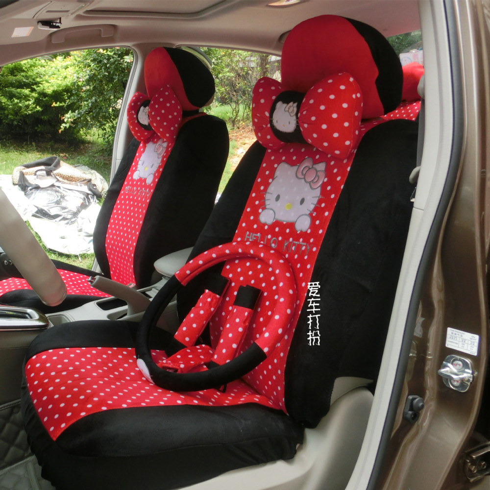 Best Car Seat Covers >> favours four seasons cute women cartoon Hello kitty wave ...