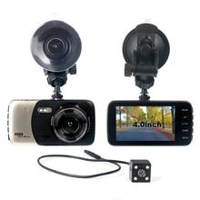 4 «Двойной объектив 1080 P FHD 1.0MP Авторегистраторы, видеорегистраторы для автомобилей Видео Регистраторы видеокамера Поддержка обнаружения движения/G-sensor/цикл видео