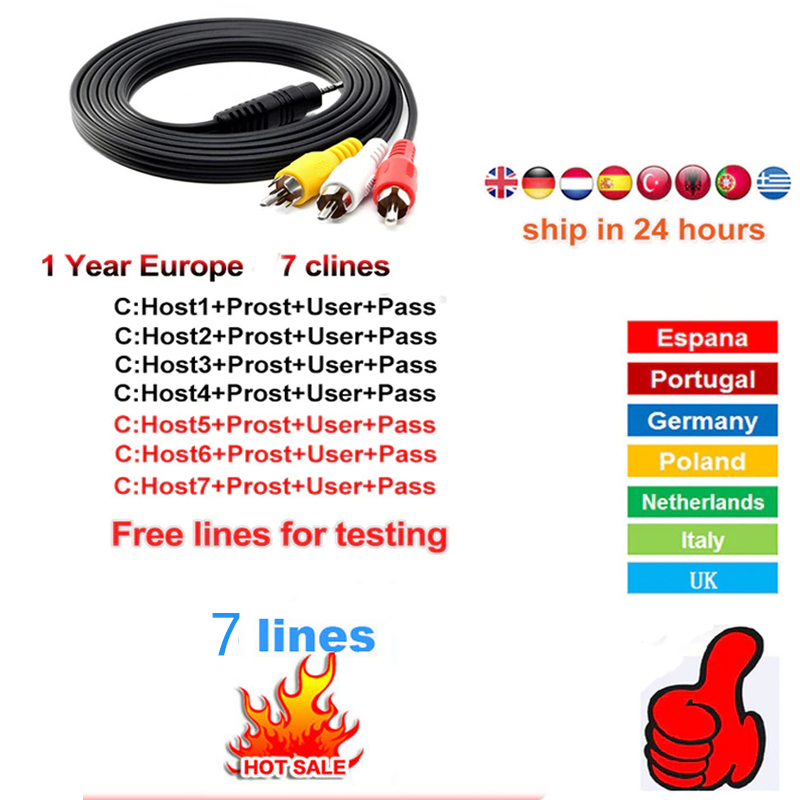 Fast And Stable HD CCCAM For 12 Months Europe Satellite TV F Freesat V8 V7SHD IKS Provide Test Account 7 Cable