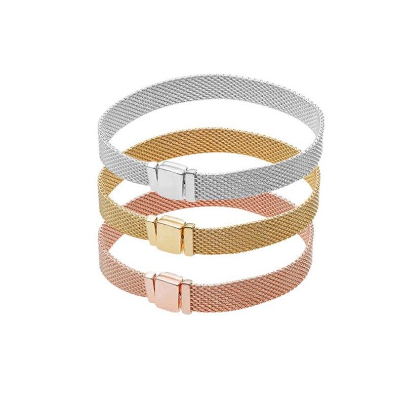 100% Original 925 argent Sterling réflexions Bracelets Bracelets charme Original argent 925 bijoux à bricoler soi-même faisant pour les femmes