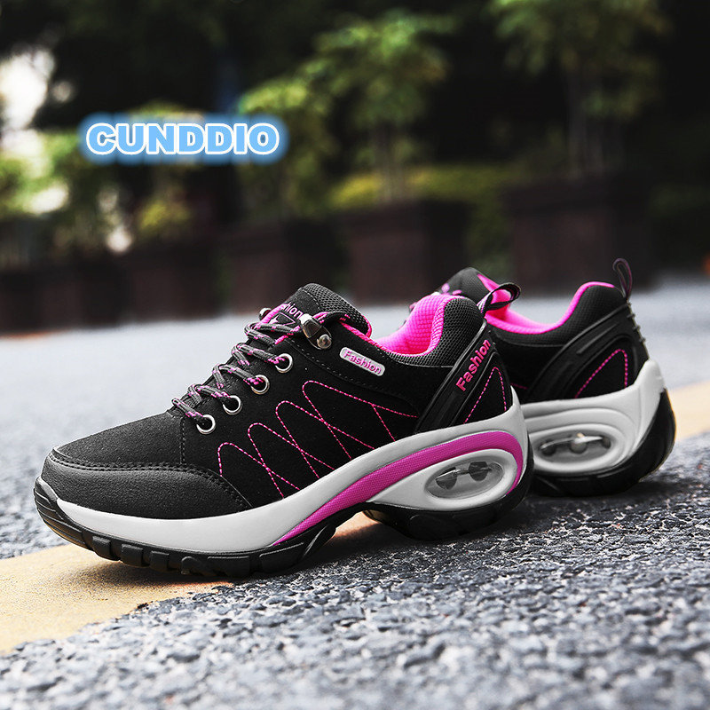 new shoes woman Outdoor Casual shoes Leather suede Keep winter sneakers women outdoor non slip air