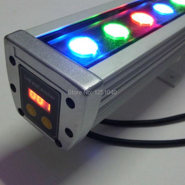 36 W RGB LED Wall Washer 24 V DMX512 mutável edifícios ao ar livre luzes de contorno IP65 impermeável holofote de luz CE