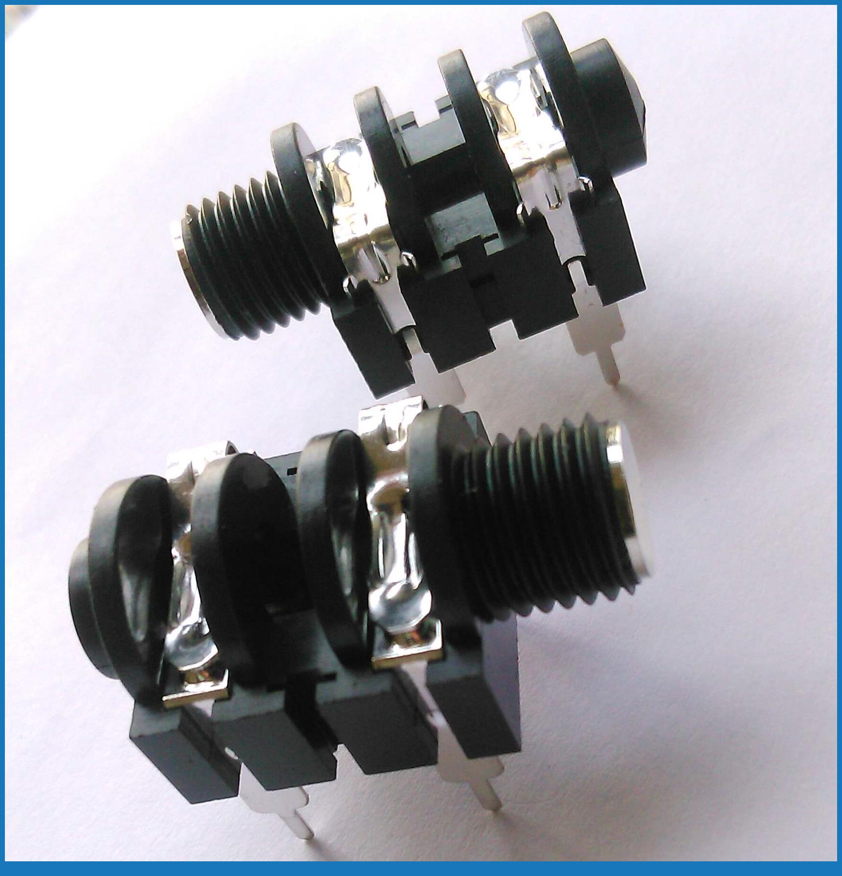Mono Headphone Wiring Diagram Directv Satellite Jack Blog 10pcs 6 35mm Microphone 1 4 Panel Socket Guitar
