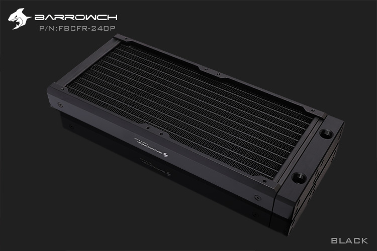 BARROWCH 240 мм радиатор POM/акриловое издание модульный Хамелеон рыбы съемный мульти-красочный FBCFR-240 новое поступление - Цвет лезвия: Black POM
