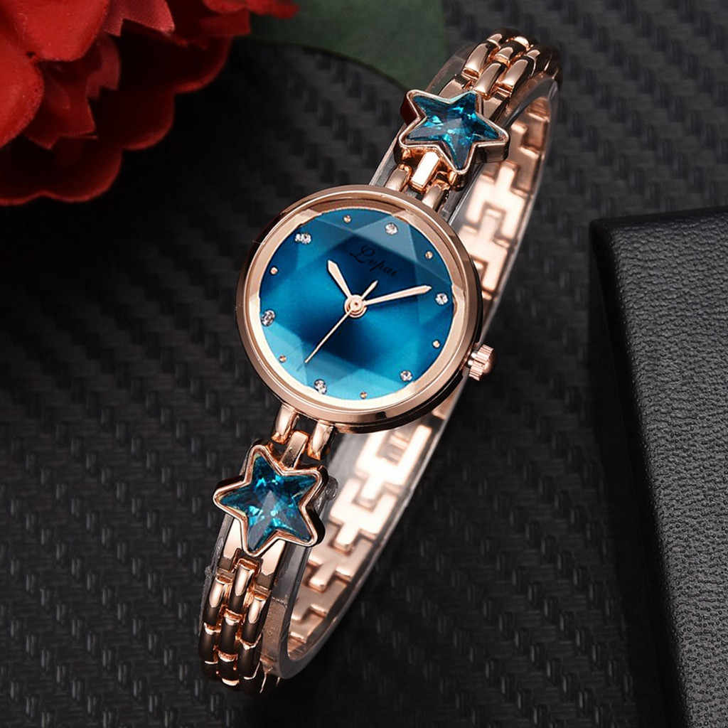 Mode Tempérament Élevé Cadran Quartz Étoile Strass Bracelet En Acier Montres часы жнск montre femme horloge murale moderne design50