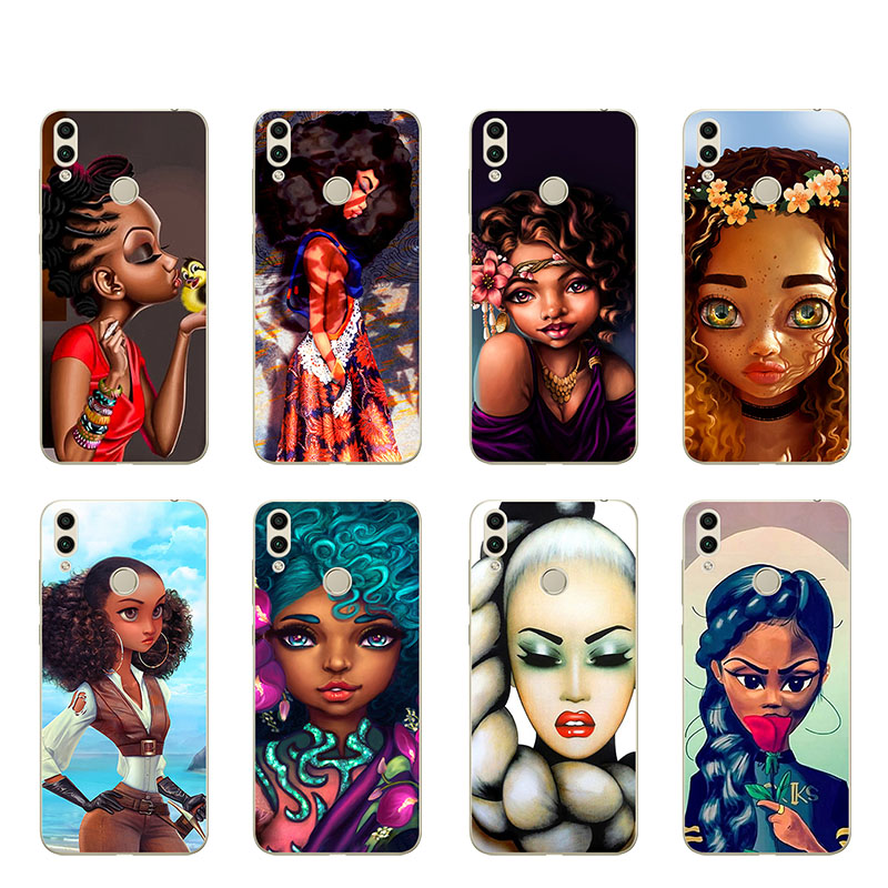 Black Girl Case For Huawei P Smart Plus Nova 3i 3 Cases Coque Melanin Poppin Queen Cover For Huawei Mate 20 Lite Pro Bumper Capa