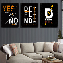 Simple Inspirational English Alphabet Big Dreamer Canvas Painting Art abstract Print Poster Picture Wall Home Decoration
