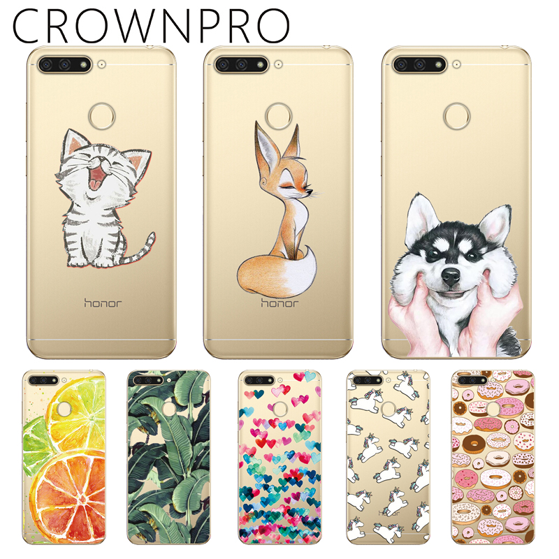 """2019 Fashion Crownpro Huawei Honor 7a Pro Cases Silicone Soft Honor7a Pro Back Cover Clear 5.7"""" Huawei Honor 7a Pro Phone Case Print Tpu"""