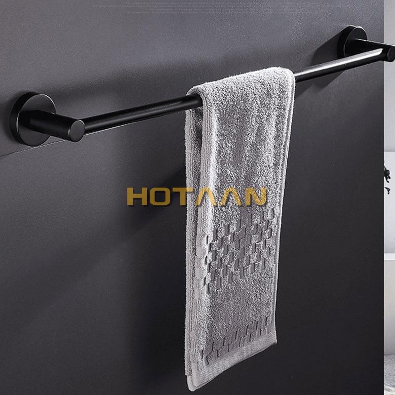 Free Shipping  Matte Black Finish Stainless Steel Bathroom Accessory Single Towel Bar Towel Rail Towel Holder 30/35/40/50/60cm