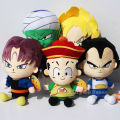 5 pcs/set Dragon Ball Z Figures Plush Doll Pendant Toys Super Saiyan Goku /Piccolo/Trunks Figure Plush Doll Toys Free Shipping