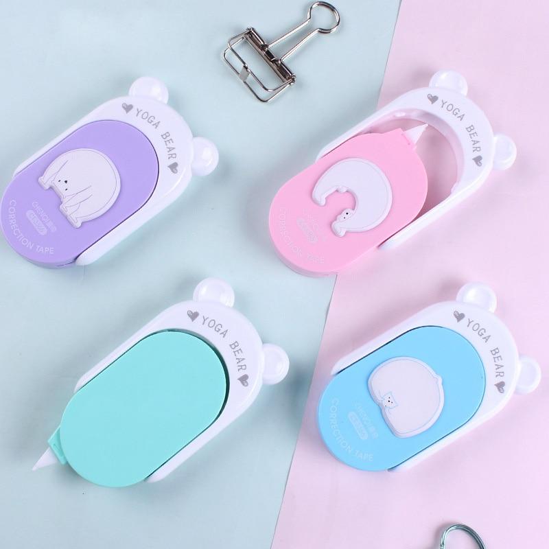 Cute Cartoon Creative Animal Bear Kawaii Cat Ears Correction Tape For Kids School Supplies Korean Stationery Student Gift