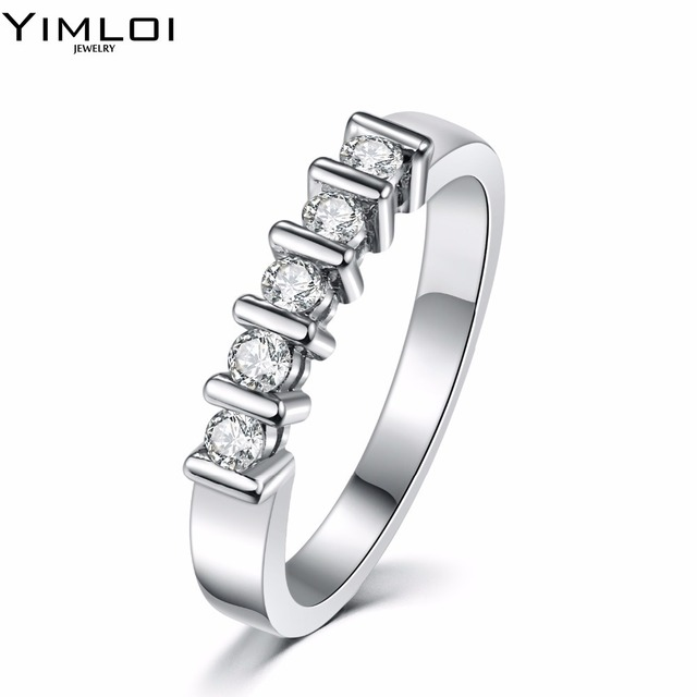 Highly Recommended Wedding Ring Three Bands Square Rings Inlaid Best Quality Cz Fashion Jewelry Gifts For