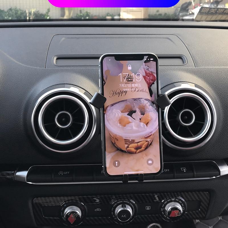 cell phone holder for audi a3 2017 2018 2019 car air vent. Black Bedroom Furniture Sets. Home Design Ideas