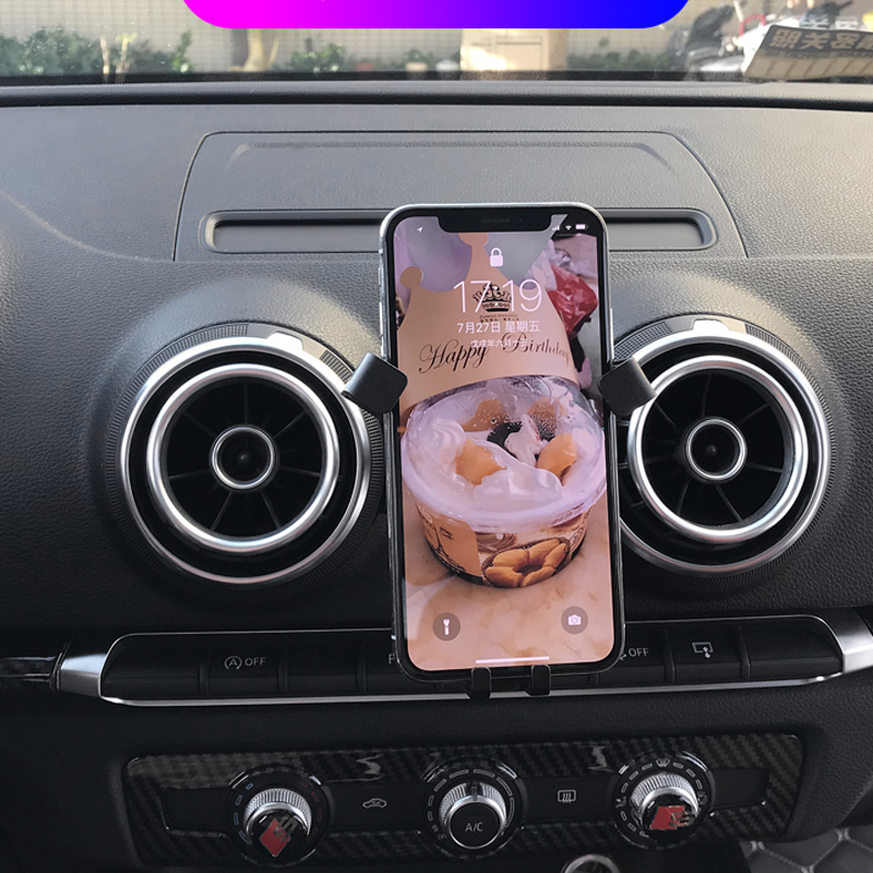 Cell Phone Holder For Audi A3 2017 2018 2019 Car Air Vent Mout Stand Mobile Phone Holder Smartphone Support image