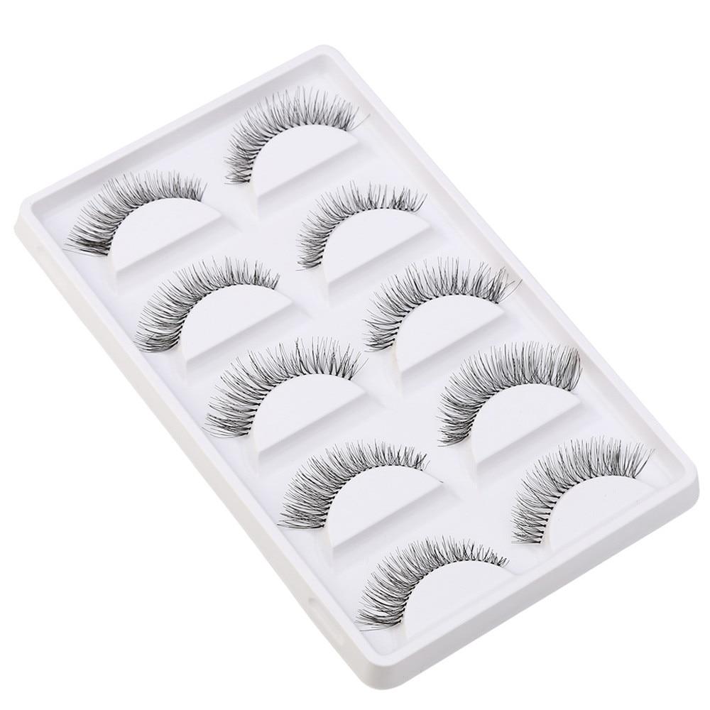 SALE 2018 New Natural 5 Pair/Lot 3D Crisscross False Eyelashes Lashes Extend Eyelash Handmade Thick Eye Lashes Gift Dropshipping