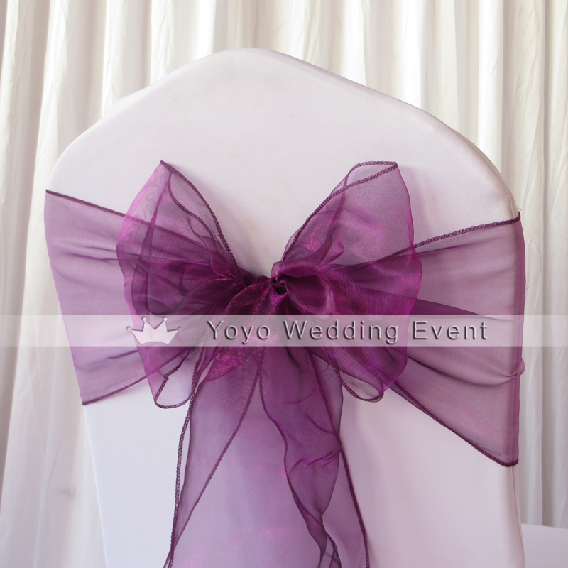 Chair Cover Bows popular ribbon chair covers-buy cheap ribbon chair covers lots