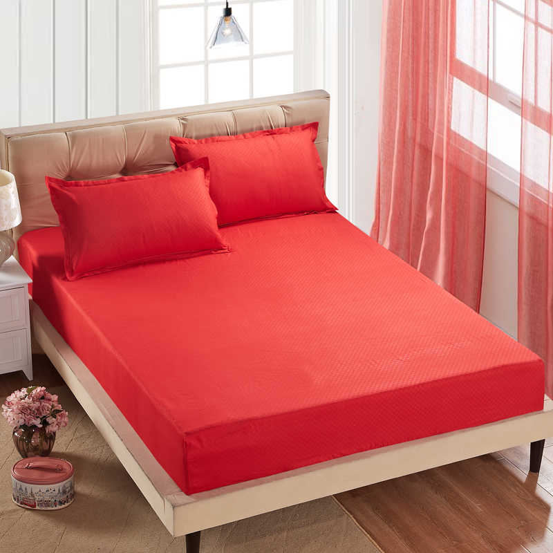 1 قطعة 100% البوليستر المجهزة ورقة غطاء مرتبة فراش بلون واحد البياضات ملاءات السرير مع شريط مرن 160 سنتيمتر * 200 سنتيمتر مزدوج Size88