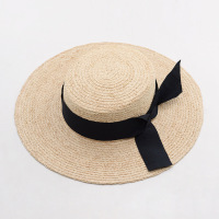 Muchique natural raffia braid panama fedora summer sun hats for women straw hat with fray raffia.jpg 200x200
