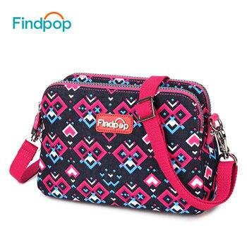 Findpop Women Bags 2017 New Printing Floral Shoulder Messenger Bags Bolsas Femininas Canvas Bags Travel Casual Women Handbags