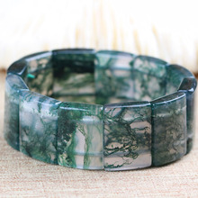 Drop Shipping Natural Water Grass Agate Bracelets Lucky Amulet Jade For Women Men Gift