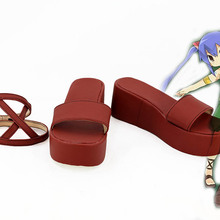 Fairy Tail Wendy Marvell Cosplay Shoes Red Sandles Custom Made