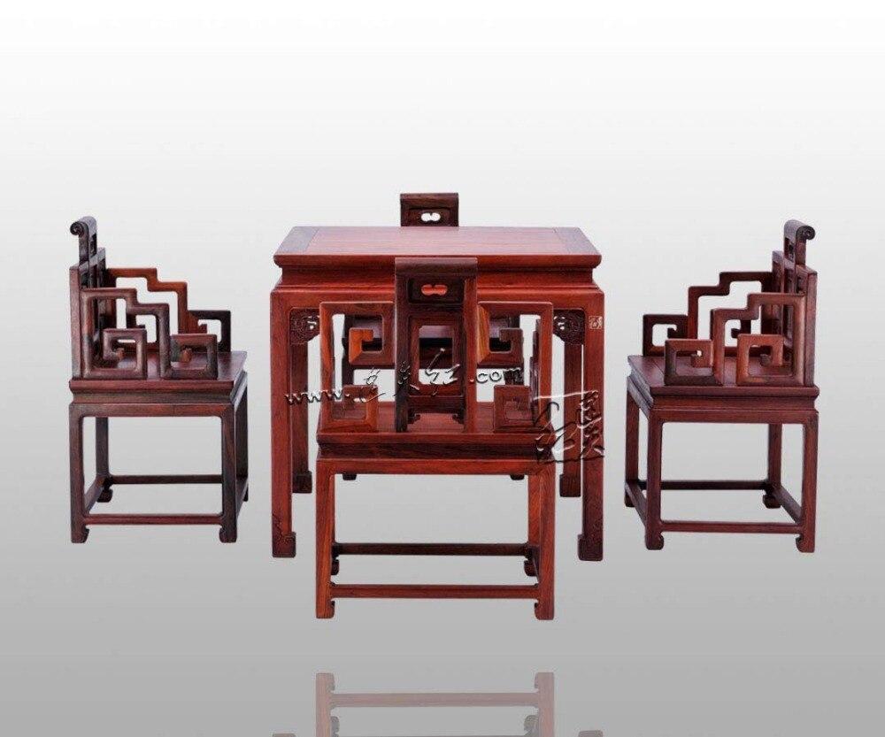 China Klassische Möbel Set Palisander Sessel Annatto Quadratischen Tisch  Wohnzimmer Esszimmer Einrichtung Schreibtisch Massivholz Gesichert Stuhl Set  In ...