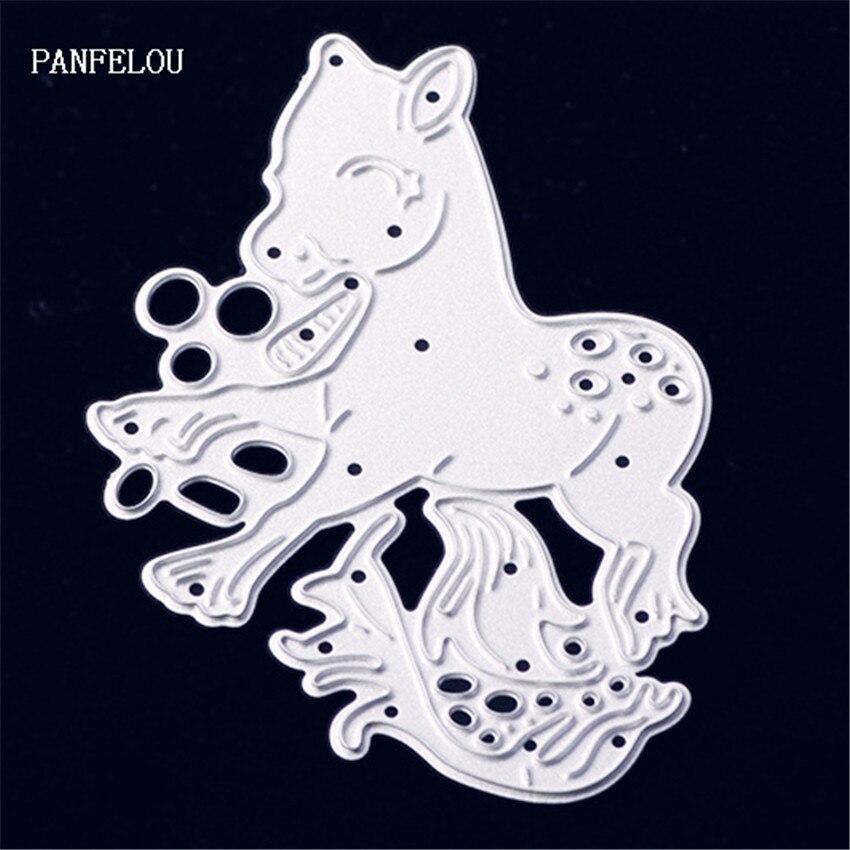 PANFELOU Metal craft Lovely spirit horse paper die cutting dies for Scrapbooking/DIY Christmas wedding Halloween cards