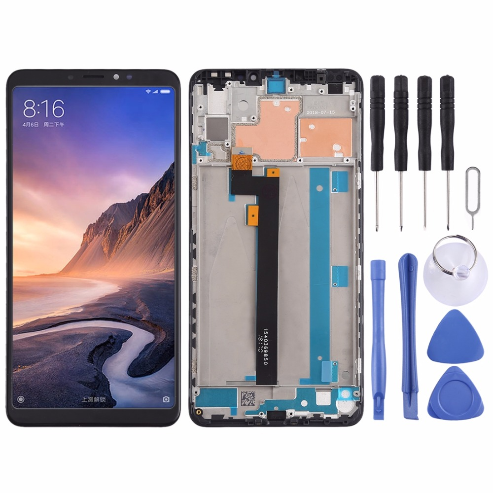 LCD Screen and Digitizer Full Assembly with Frame for Xiaomi Mi Max 3LCD Screen and Digitizer Full Assembly with Frame for Xiaomi Mi Max 3