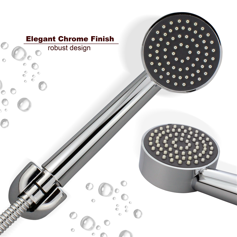 ABS Round water Saving High Pressure Chrome Plating Handheld Rainfall Shower Head hsh0002a