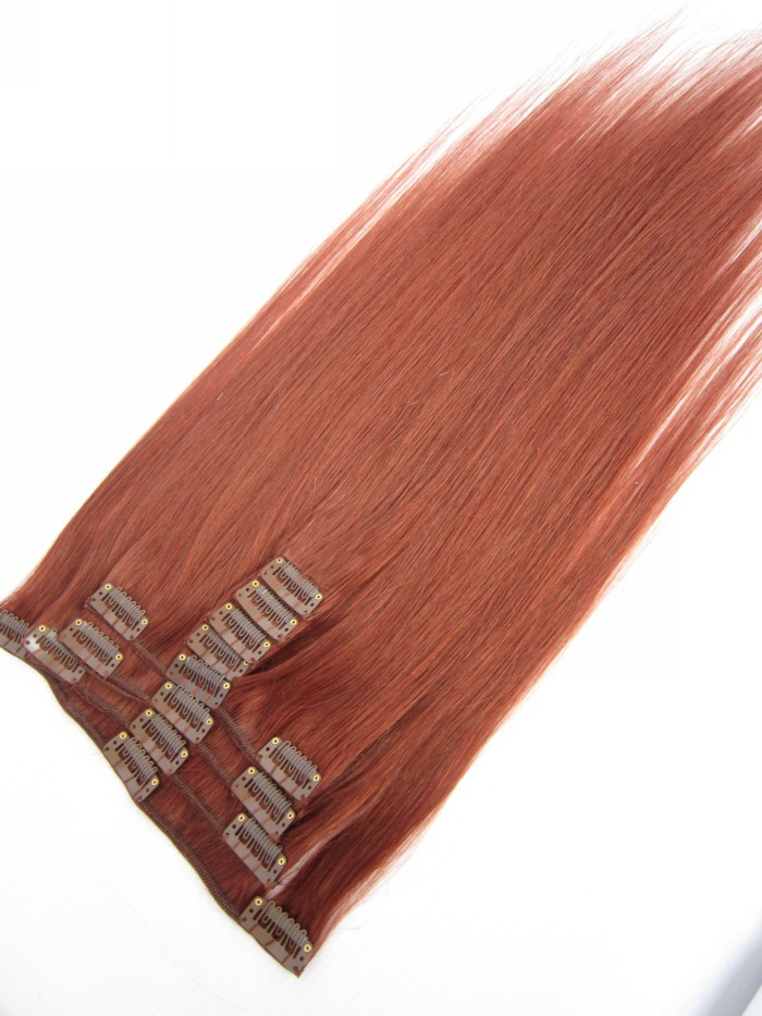 9pcsset 33 rich copper red 15 24 inch clip in hair extensions hu 9pcsset 33 rich copper red 15 24 inch clip in hair extensions hu man hair silky straight soft bra zilian re my hair extension on aliexpress alibaba pmusecretfo Choice Image