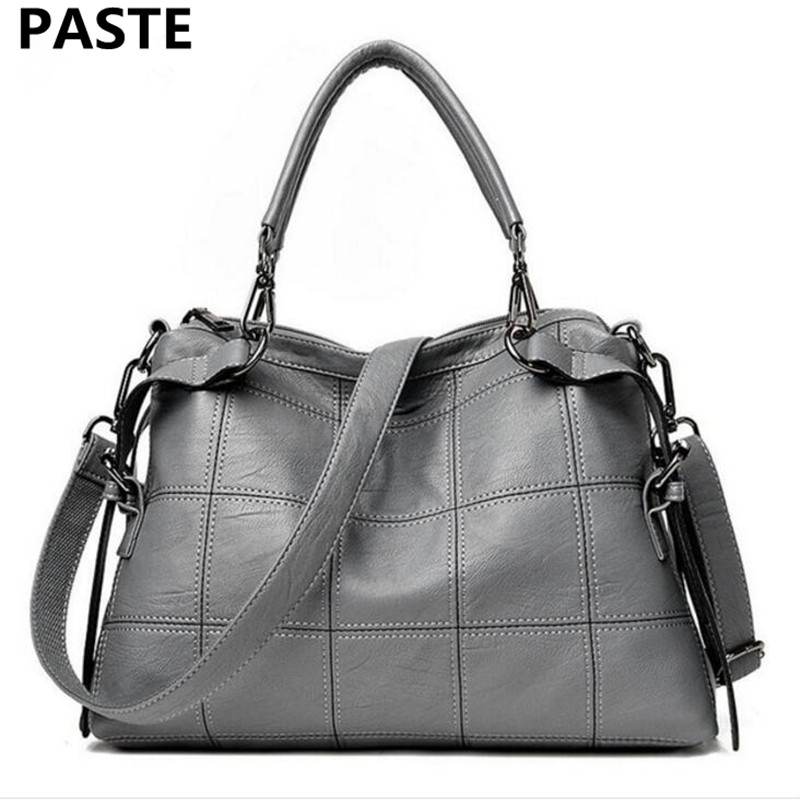 PASTE High-end Luxury Fashion Handbags Autumn and Winter New Leather Handbags Korean Fashion Diagonal Package Leather Handbag foxer 2016 new high end luxury fashion leather handbag shoulder diagonal package of 100