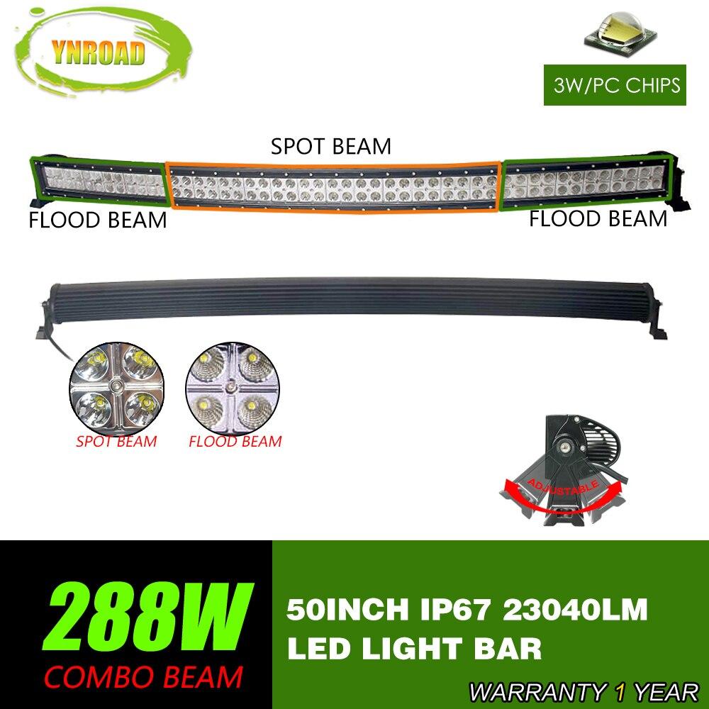 YNROAD 288W 50inch կոր LED լուսադիոդի - Ավտոմեքենայի լույսեր - Լուսանկար 1