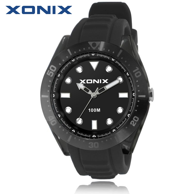 TOP Fashion Mens Watches Top Brand Luxury Women Watches Waterproof 100m Quartz Watch Swimming Diving Reloj Hombre Montre Homme