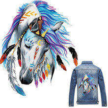 1PC 3D Horse Patch T-shirt Press Heat Transfer Sticker A-level Washable Iron On Appliques For T-shirt Dresses Clothes Decoration(China)