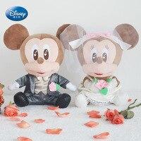 Disney kawaii plush doll wedding gift bed Mickey Mouse wedding Mickey Minnie Wedding anniversary gift popular toys Lover gift