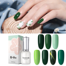 Harunouta 12ml Verdancy Series Gel Polish 3D Magnetic Shining Green Colors Nail Art Soak Off UV Manicure Varnish