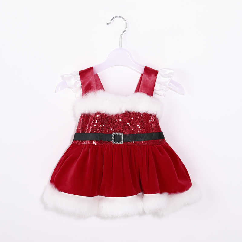 b2c6b1be1e18 Detail Feedback Questions about 0 24M Christmas Newborn Baby Girl Velvet  Romper Dress Sequin Sleeveless Red Princess Tutu Dress Xmas Baby Girl  Clothes on ...