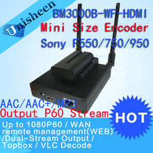 Unisheen H.264 HDMI Video Encoder Lage Lantency Zender Camera naar Ip live-uitzending draadloze Facebook Youtube Ustream Wowza