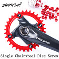 5pcs M8*6 Aluminium Alloy Bike Chainwheel Disc Bolts MTB Road Bicycle Crankset Bolt Screw of 10mm Diameter Bike Tooth Disc Screw