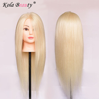 Hairdressing Training Heads 50 Real Human Hair 22 Mannequin Head With Long Hair High Quality Hair