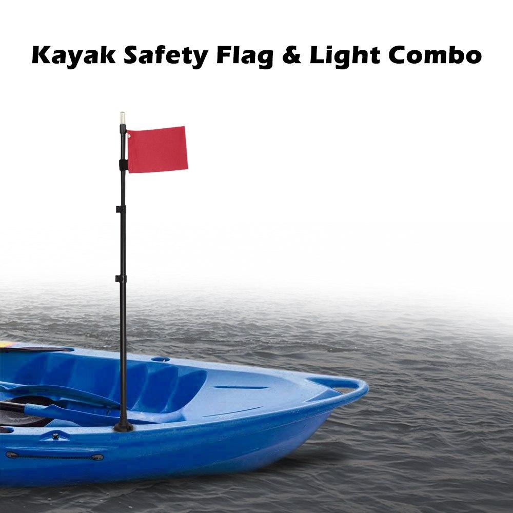 Kayak sécurité drapeau bricolage accessoires pour bateau canoë Yacht canot Kayak Combo lampe étanche pour accessoires de canot marin