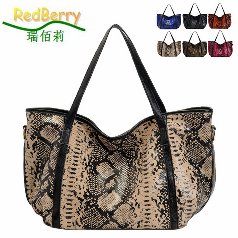 Casual serpentine women handbag genuine leather bag  western style shoulder bags new bolsas women messenger bags 6 colors tote promotion new women genuine leather fashion handbag female bag women s casual shoulder messenger bag western brand bags