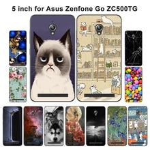 Защитный Мягкий чехол из ТПУ для ASUS Zenfone GO ZC500TG, 5,0 дюймов, чехол для телефона с пейзажем, окрашенный Для ZenFone GO ZC500TG Z00VD