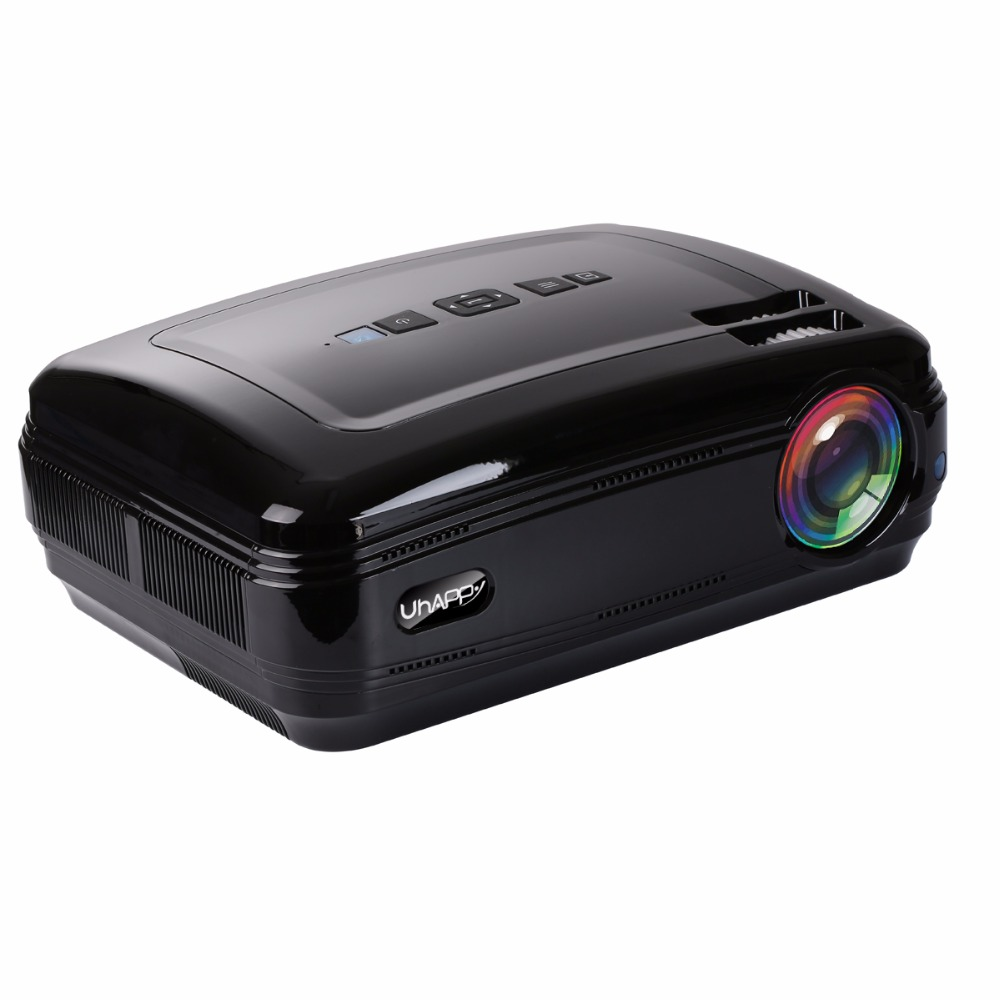 Uhappy BL58 LED Projector 3500 Lumen Video Built in WIFI Bluetooth Support 4K School Proector Full